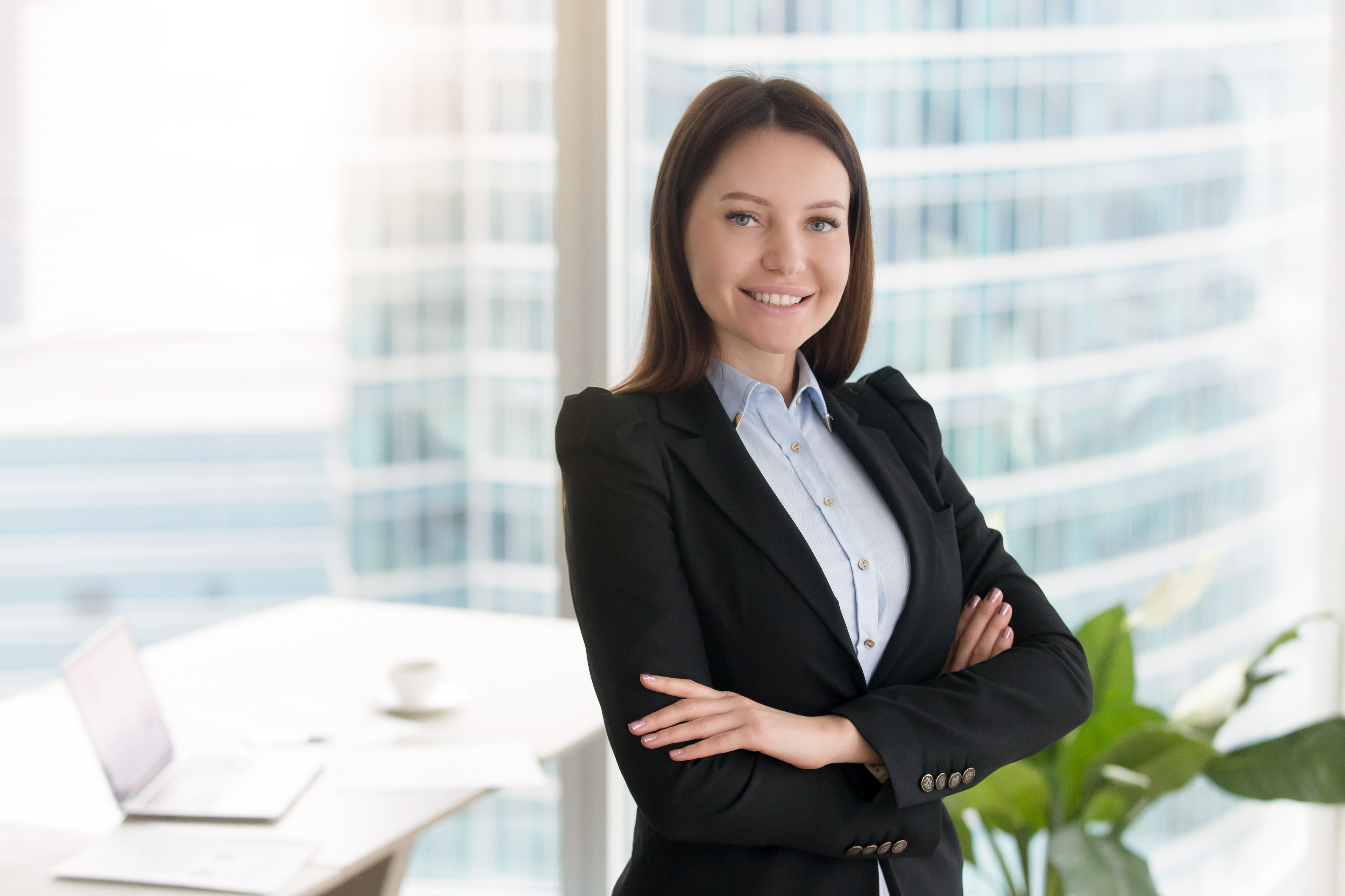 Lawyer in her office
