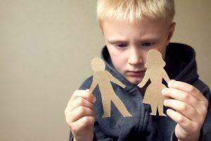 Kid sad with parents divorce