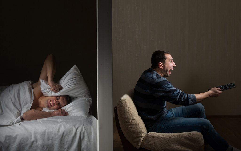 Man can't sleep because of noisy neighbour