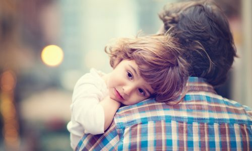 child with his father