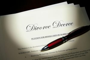 marriage dissolution papers