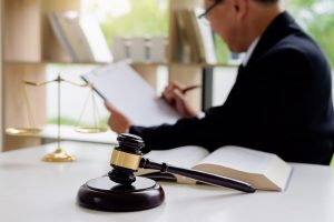 Lawyer Studying a Case