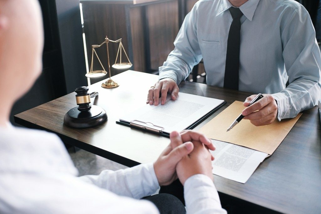 talking to a solicitor