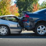 Car accident involving 2 vehicles