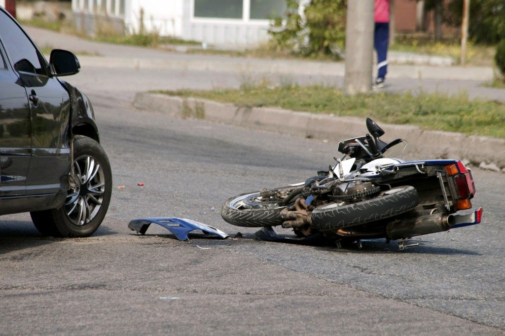 Motrorcycle that collided with a car