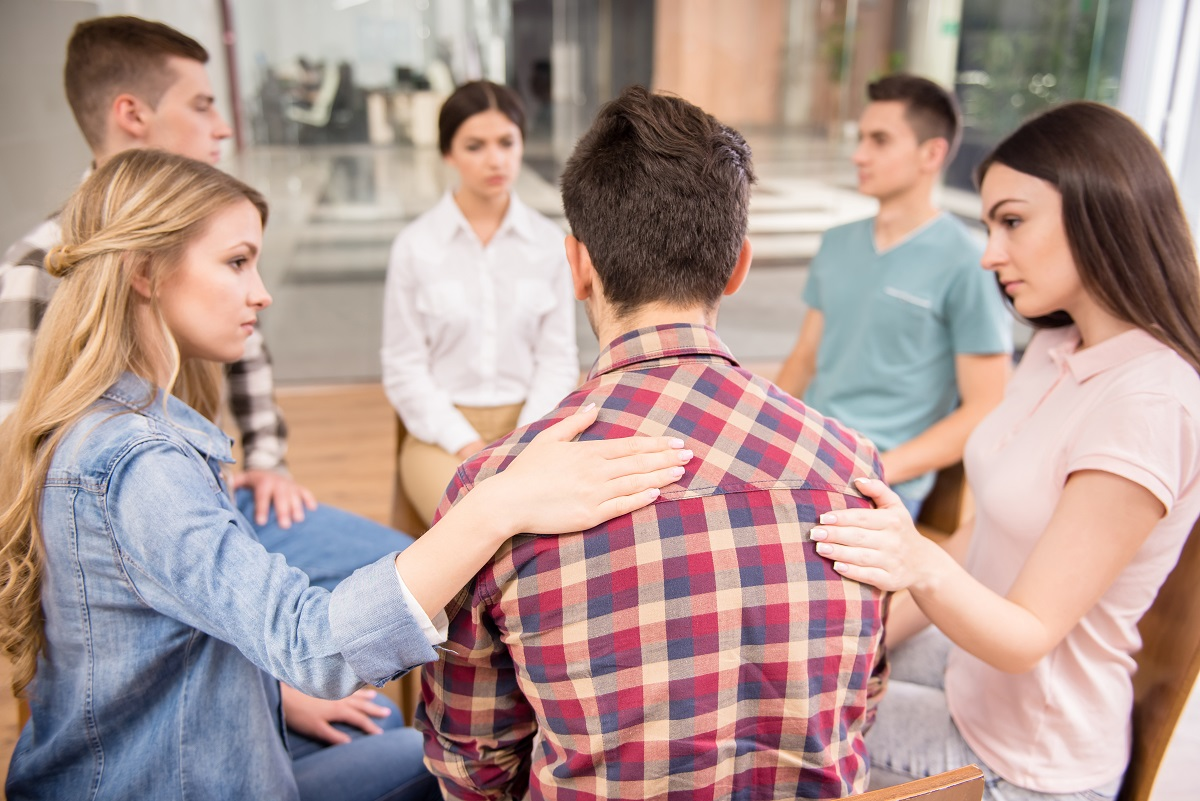 Victim of abuse sharing to a group