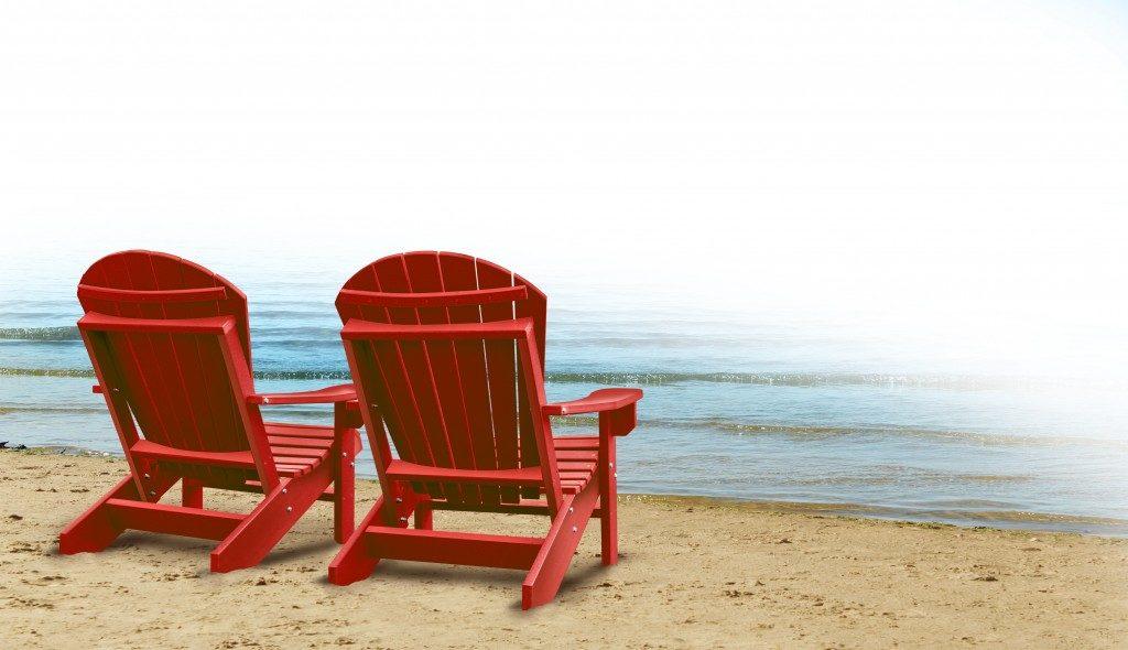 beach chair by the sea