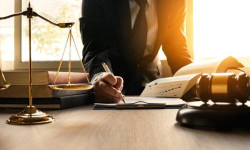 lawyer writing something