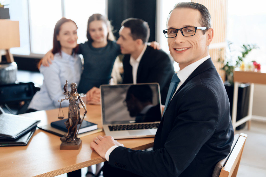 Family lawyer concept